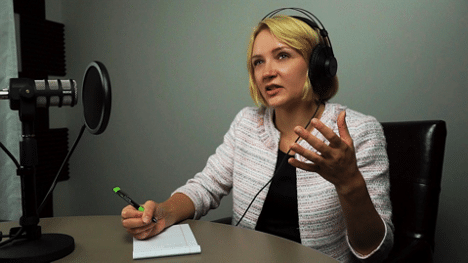 Halie Morris - Everyday Business Solutions Podcast Host speaking with guest