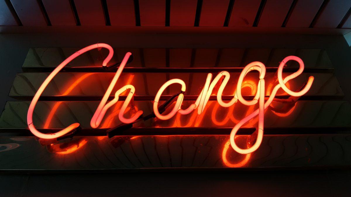 Chance sign in neon orange